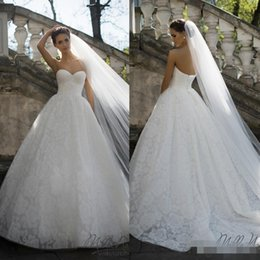 Wholesale Western Dress Up - Beautiful White Sweetheart Wedding Dresses 2018 Lace Up Back Lace Appliques For Western Style Chapel Train Illusion Ball Bridal Gowns