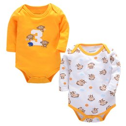 Wholesale winter bodysuits for babies - Fashion Winter Long Sleeve Baby Bodysuits Girl Casual Overalls Children Jumpsuit Newborn Clothing for Babies Boys Baby Body