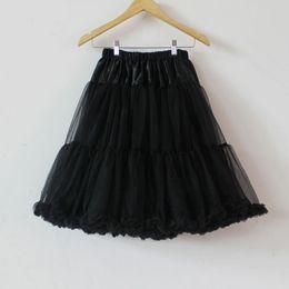 Wholesale Long Black Fluffy Skirts - 29colors fashion black woman petticoat teenage adult girls chiffon skirt soft tulle pettiskirt tutu party long fluffy skirt