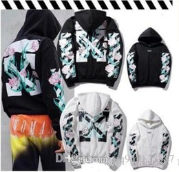 Wholesale Champagne C - OFF WHITE C O Hoodies Men Women sup Clothing Religious Outerwear Coats Hip Hop Skateboard PALACE Male Hooded Sweatshirts