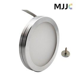 Wholesale Led Cabinet Wholesale - 12V DC 3W Dimmable LED Under Cabinet Lighting Puck Light Warm White Cool White for Kitchen Counter Down Lighting Aluminum Alloy
