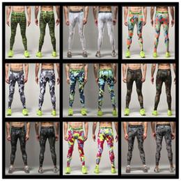 Wholesale Skinny Leg Joggers - 2016 Men compression pants sports running tights basketball gym pants bodybuilding mans joggers army green skinny leggings