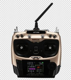 Wholesale Electric Radio Control Airplanes - Brand New Radiolink AT9S 2.4G 10CH radio control transmitter w DSSS& FHSS spread spectrum with receiver