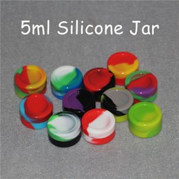Wholesale Food Storage Jars Wholesale - Nonstick wax containers silicone box 5ml silicon container food grade jars dab tool storage jar oil holder Silica gel box FDA approved