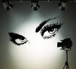 Wholesale Modern Sexy Bedroom - Free Shipping Sexy Eyes Wall Stickers Waterproofing DIY Creative Vinyl Wall Stickers Home Decor