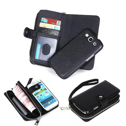 Wholesale Phone Money Wallet Case - For Samsung S7 S7 Edge Magnet Zipper Wallet Leather Case Mobile Phone Cover with Money Pocket Slots Photo Frame for Galaxy G9300 G9350