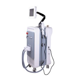 Wholesale Ipl Laser Yag - 3 in 1 multifunction SHR IPL Q-switched nd yag laser fractional RF beauty machine hair removal tattoo removal skin tighten