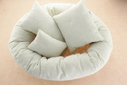 Wholesale Boys Photography - 2016 newest photography props for baby girls boys photo tools ring rectangle pillows for newborns infants 4pcs set for photographic studio