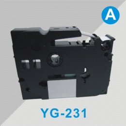 Wholesale Tz 231 - compatible for brother p touch 12 mm tze-231 YG-231 tz tape typewriter ribbon label maker tze textil etiquetas labelmanager