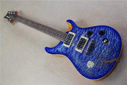 Wholesale Bridge Pattern - Limited Edition Reed Smith Blue Qulit Maple Top & Moon Night Crow Pattern Electric Guitar White MOP Birds Inlay Tremolo Bridge
