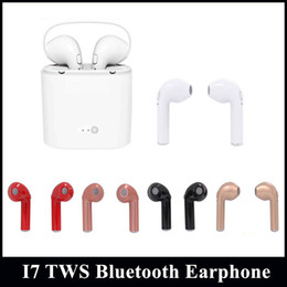 Wholesale Colors Iphone Earphone - i7 TWS Bluetooth Earphone Mini Bluetooth Wireless Headphones 5 Colors With Charging box for Android iPhone with Retail package
