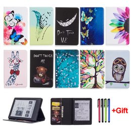 Wholesale Leather Case For Kindle Fire - Fashion Cartoon Case For New Kindle 2016 8th Generation Funda For Kindle 8 Generation 2016 Tablet PU Leather Flip Stand Shell