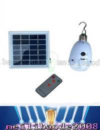 Wholesale 21 Bulb - Multi-Functions Portable 21 LEDs Rechargebale LED Bulb Light Solar LED Lamp With Remote Control Emergency Lighting Phone Charging LLFA