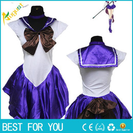 Wholesale Sailor Mars Cosplay Costume - Hot New Arrival Ladies Sexy Sailor Moon Costume Cartoon Movie Cosplay Girl Mercury Moon Mars Dress Wholesale Halloween Costumei