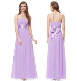 Wholesale Evening Bridemaid Dress - 2016 New Stock Sexy Long Chiffon Formal Prom Dresses Bow Beads Pleats Floor-Length Evening Bridemaid Party Gowns