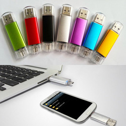 Wholesale wholesale usb sticks - OTG 2*PORTS U-Disk USB Drive Flash Memory Stick 16GB 8GB 2GB 4GB For Smart Phone & Tablet PC