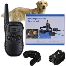 Wholesale Display Vibration - Rechargeable Waterproof 300M 100LV LCD display 998DR Electric shock vibra Remote Control Dog Pet Training Collar