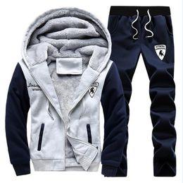 Wholesale Mens Casual Sweat Suits - Polo Winter Men Set Hoodies Sport Tracksuit For Mens Sweat Suits Sweatshirts Man Jogging Jogger Chandal Sudaderas Hombre Homme