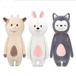 Wholesale Stuffed Toy Cows - 60cm Kawaii animal plush dolls kids stuffed toys for children soft comfort baby toys Cows rabbit fox teddy bear