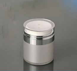 Wholesale Wholesale Airless Jars - Wholesale- 50G Plastic Airless Cream Jar ,Cosmetic Jars, Skin Care Cream Packaging
