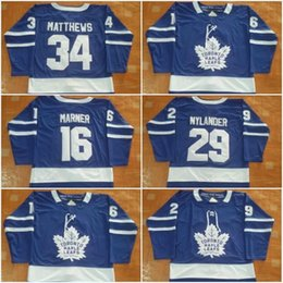 arce de alta calidad Rebajas Mens Hockey Jerseys New Maple Leafs Jerseys # 34 Matthews Jersey Color de la marca azul Tamaño 48-56 Mix Order High Quality All Jerseys Wholesale