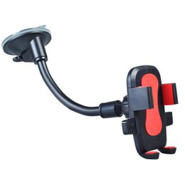 Wholesale Car Gps Lock - 360 Degree Car Windshield Mount Automatic Lock Cell Phone Navigation Holders Bracket Stands for iPhone for Samsung Smartphone Mounts