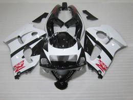 Wholesale 1996 Gsxr - 4 Free gifts ABS bike Fairings kit for SUZUKI SRAD GSXR 600 750 1996 1997 1998 1999 2000 fairing set gsxr600 gsxr750 96-00 white black