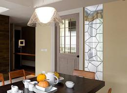 venda de adesivos espelho Desconto Venda quente Home Decor Prata Ouro 20x20 cm Bela Cor do Projeto 7 Pcs Padrão Moire Espelho Decalques Removíveis Art Mural Adesivo de Parede Novo