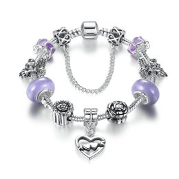Wholesale Colourful Silver Bracelets - pendant color glaze bracelet Best Christmas gift for friend silver plated bangles with colourful glaze with double heart shape