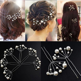 Wholesale hair accessories for women clips - New Arrival Pearl Hair Pins Hair Clips Bridesmaid Jewelry Wedding Bridal Accessory Jewelry For Women 10pcs lot