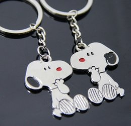 Wholesale Advertising Dog - Snoopys Peanut Dog Keychain Keyring Key Cute Creative Gift Lovers Key Ring Couple Keychain Rings Snoopy advertising