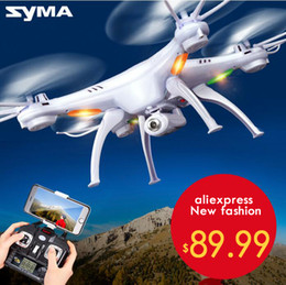 Wholesale Quadricopter Camera - SYMA X5SC   X5SW WIFI RC Drone quadricopter with FPV camera Headless 6-axis real-time RC Quad Helicopter Toys