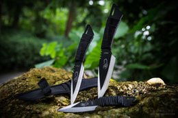 Wholesale Piece Dove - 3 piece Lot Stainless Steel straight Fixed Blade knife outdoor survival hunting knife diving knives free shipping