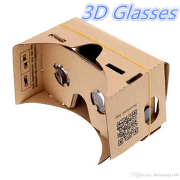 Wholesale 3d passive - DHL 3D Glasses VR Glasses DIY Google Cardboard Mobile Phone Virtual Reality Unofficial Cardboard VR Toolkit 3D Glasses CCA1785 B-XY