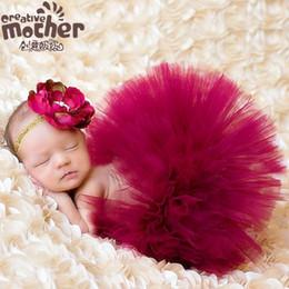 Wholesale Princess Photographs - 2016 baby princess dress veil photography photographing infants mesh gauze tutu skirts baby girl photo props hair accessories+dress set