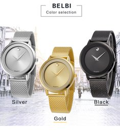 Wholesale Mens Watched - 2018 AAA Mens Fashion Wristwatches Male Female Dress Sport Quartz Battery Luxury Women Men Modern Wrist Watches Gift Clock Top Brand BELBI