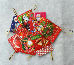 Wholesale Wool Card - Christmas Greeting Cards Xmas Card Creative Cute Christmas Wish Card Christmas Tree Ornaments Best Gifts 128 pcs  lot