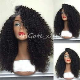 Wholesale Mongolian Kinky Hair Wig - Kinky Curly Wig High Density Full Lace Wig Human Hair For Black Women 10a Brazilian Lace Front Wigs