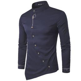 Wholesale Male Shirt Fashion Models - Wholesale- 2017 New Fashion Brand Men Shirt Oblique Buckle Dress Shirt Long Sleeve Slim Fit Camisa Masculina Casual Male Shirts Model White