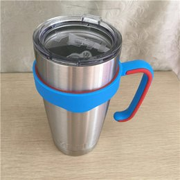 Wholesale Dhl Portable - DHL FREE!!! Hand handle Holder Mugs Portable Hand Holder For YETI Rambler Tumbler 20 oz 30 oz Cups Rambler Handle and yecamouflage yeti cup