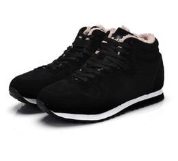 Wholesale Fur Snow Footwear - Men Shoes Winter Warm Fur Men Casual Shoes Flock Footwear For Winter Man Sneakers High Top Casual Men Shoes