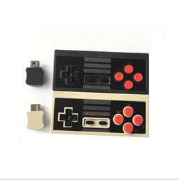 Nintendo nes spiele online-Wireless USB-Stecker Spiel Controller Gamepad für Nintendo NES Mini-Tasten Classic Edition JoyStick mit Wrirless Receiver Retail-Boxen