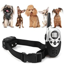Wholesale Beeper Collars - Dog Training Collar 1000M Waterproof Rechargeable Remote Control Electronic Electric Vibration Shock Beeper Pet Dog Training Collar