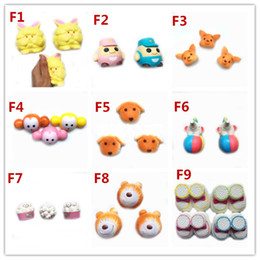 Wholesale Dog Squeeze Toys - 2017 Hot style Garfield Police dog Squishy Toy Slow Rising Soft Squeeze Cute Cell Phone Strap gift Stress for children Decompression toys