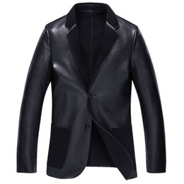 Wholesale Cool Wool Men Coat Winter - Fall-Leather suede sheepskin coat genuine leather jacket men new 2016 winter fashion cool sheepskin leather fur coat New Phoenix
