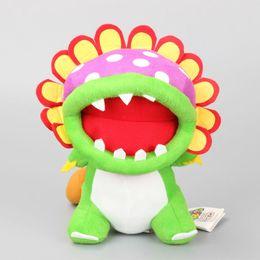"Wholesale Petey Piranha Plush - 8"" 20 CM Super Mario Bros Petey Piranha Flower Stuffed Plush Toys Soft Dolls Children Gift 001"