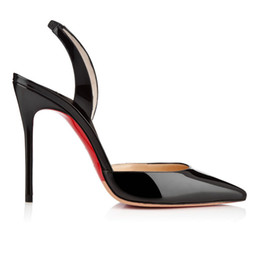 Wholesale Night Club Heels - 2016 Euramerican Style Fashion Woman Pointed-toe Shoes Black Color Stiletto Heel Coat of Paint Shallow Mouth Night Clubs type casual shoes