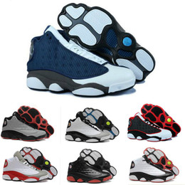 Wholesale Mens Basketball Shoes Best - 2017 New Mens womens Basketball Shoes 13 Bred Black True Red Discount Sports Shoe Athletic Running shoes Best price Sneakers