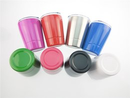 Wholesale Kids Tumblers Wholesale - 10 Colors 9oz tumbler Vacuum Insulated mug Stainless Steel Lowball Wine Tumbler with lid with straw 9oz kid mug cup
