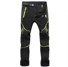 Wholesale Dry Trousers - Wholesale-Man Travel Summer Elastic cycling Biking Trousers mountaineer Hiking pant Men outdoor anti-UV sport quick-dry camping Fishing P4